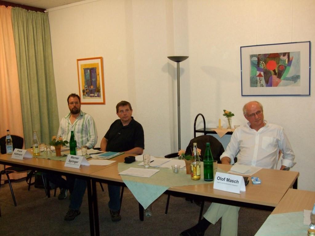 Ralf Hüttmann, Werner Springer und Olof Masch (von links)