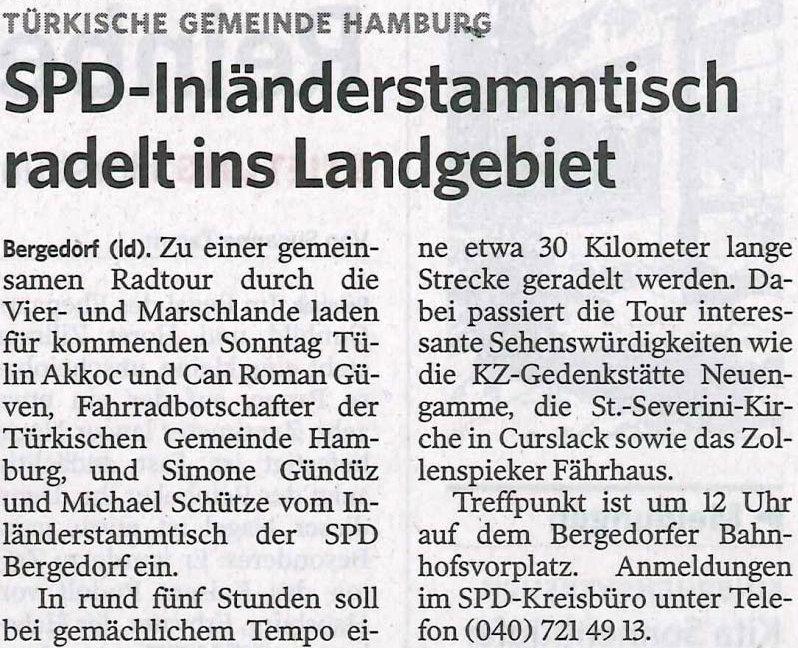 Bergedorfer Zeitung vom 11.10.2012