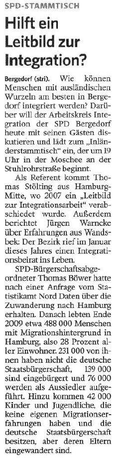 Bergedorfer Zeitung vom 13.09.2010