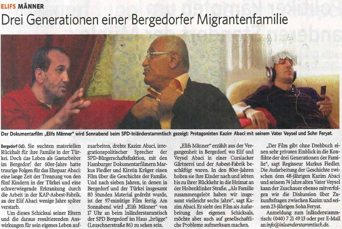 Bergedorfer Zeitung vom 29.08.2013