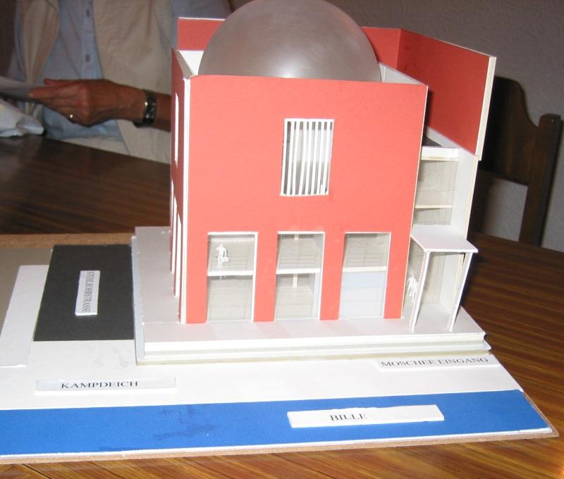 Modell der geplanten Moschee