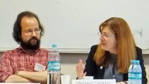 Michael Schütze vom Inländerstammtisch und Meryem Çelikkol
